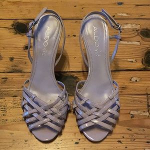 Aldo Pale Mauve Strappy Heeled Sandal